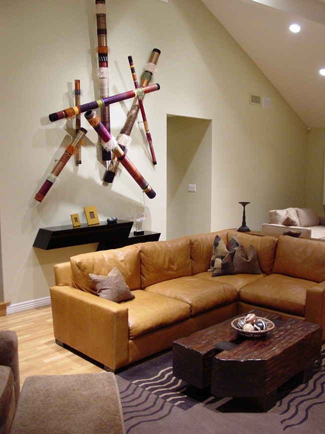 art, Encino, leather couch, San Francisco, Interior Design, transitional, contemporary design